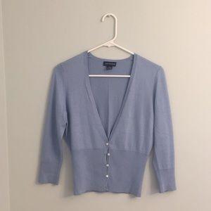 Anne Taylor Silk/Cotton/Cashmere Cardigan